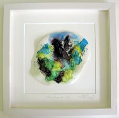 framed porcelain and glass