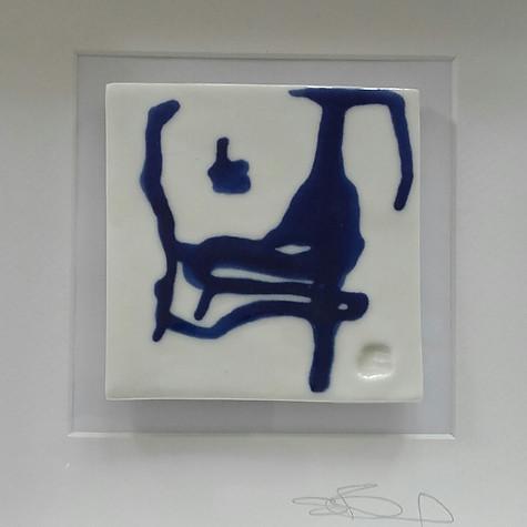 porcelain tile, cobalt glaze