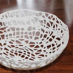 dripped porcelain lace bowl
