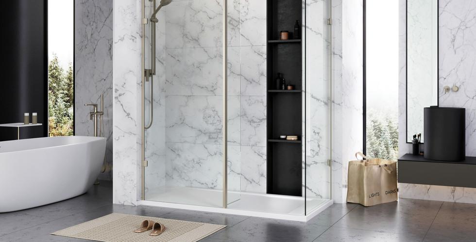 Liberty Wetroom panels brushed nickel (1