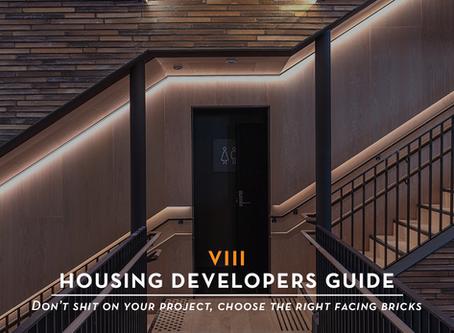 The Housing Developers Guide: Facing Bricks •