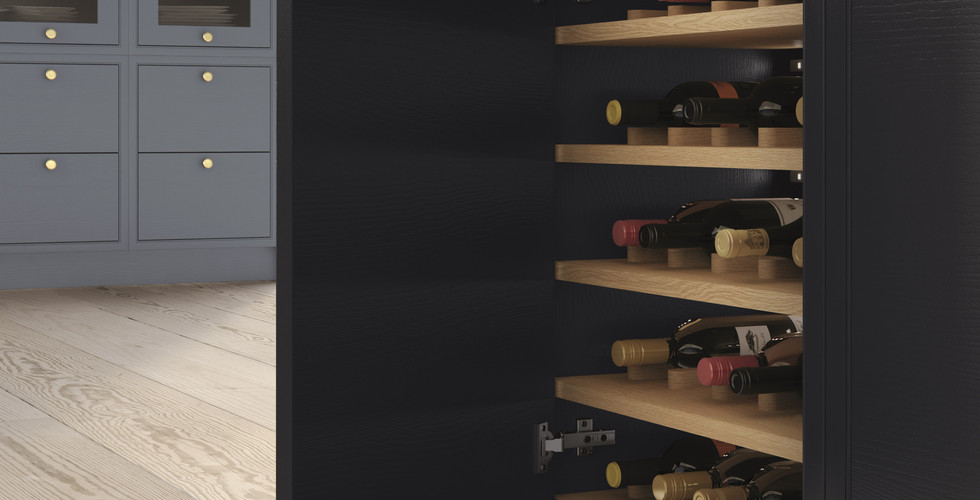 Larder Cabinet with Integral Wine Store.