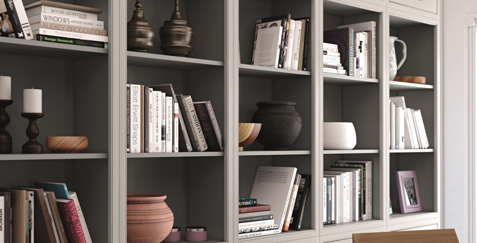Single Bookcases with Short Wall Cabinet