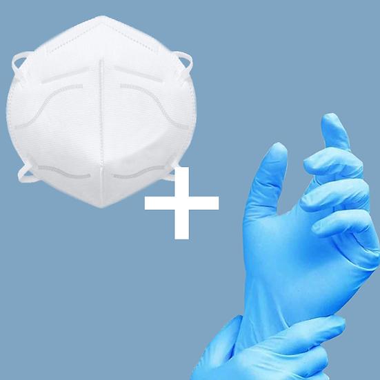 FFP2 masks with vinyl gloves + free sanitiser