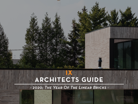 The Architects Guide · 2020; The Year Of The Linear Bricks ·