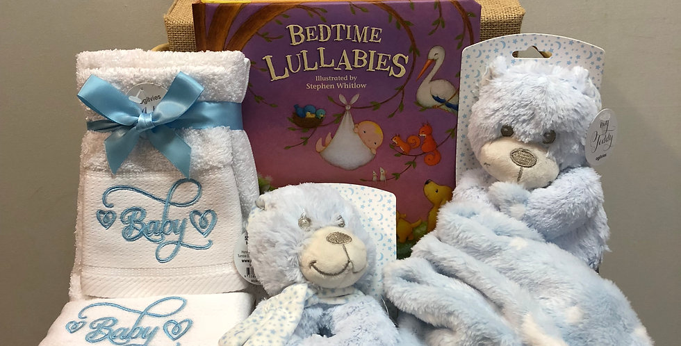 Baby Boy Bedtime Lullabies Gift Basket