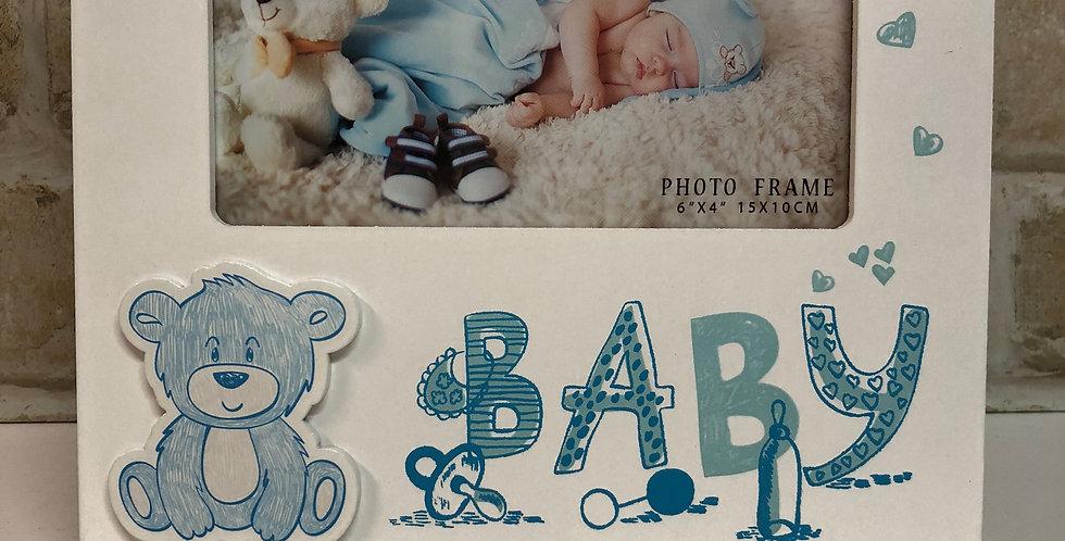 Photo Frame Baby Bear Blue