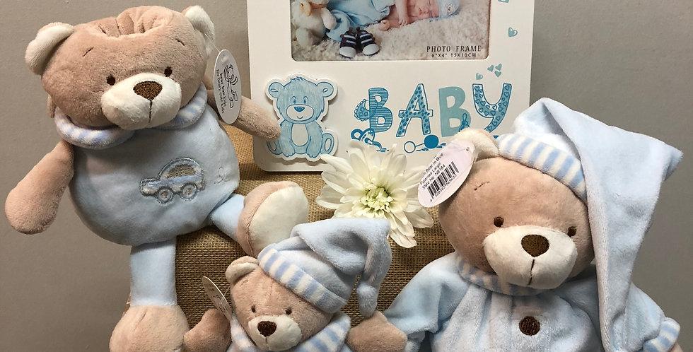 Baby Boy Bear Gift Basket