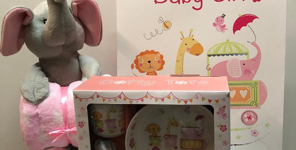 Zoo Animals Baby Girl Gift Bag