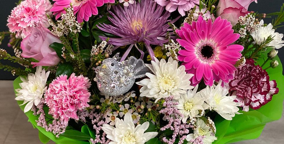 Friendship Birds Flower Basket  from $55.00 - $75