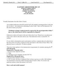 Letter from RSU 39 School Nurses