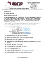 RSU 39 Covid Support Services