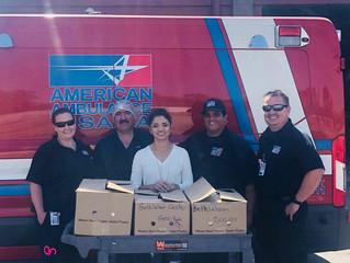 American Ambulance Donates 240-Pound Hog To Bethlehem Center Kitchen