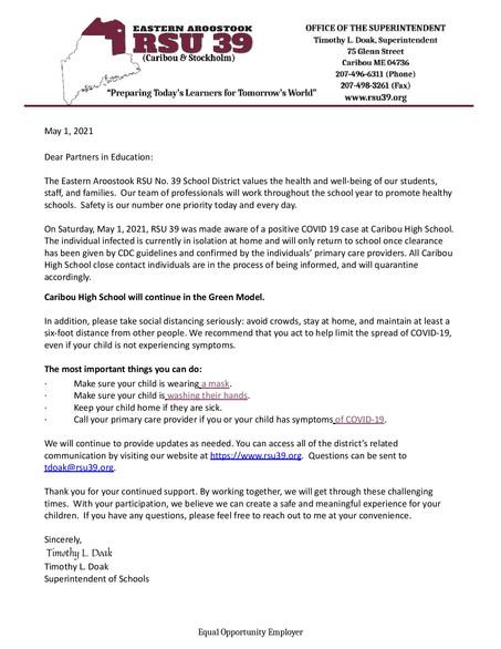 COVID Notice 5-1-2021