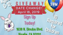 Easter Basket Giveaway Date Changed to April 18!