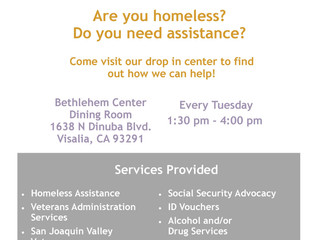 Are You Homeless? Do You Need Assistance?