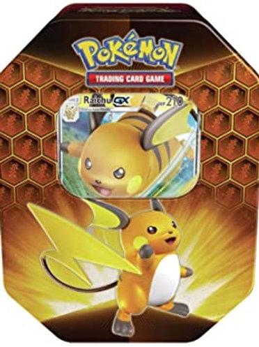 Pokemon Hidden Fates Raichu GX Collectors Tin