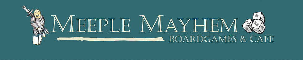 Meeple mayhem shop sign 2000x400 word ot
