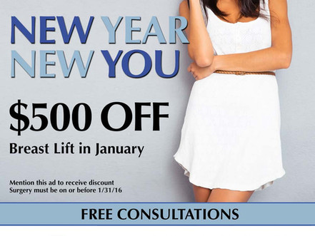 New Year, New You! $500 Off Breast Lift in January!