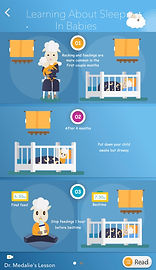 Learning About Sleep in Babies Infograph