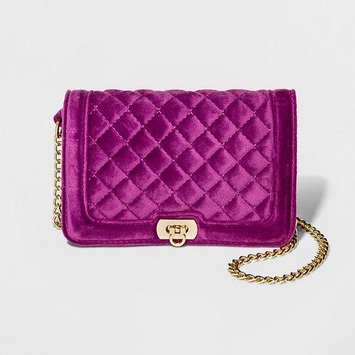 Women's Quilted Flip Lock Camera Handbag - A New Day