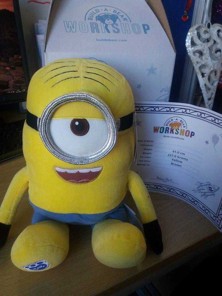 "Blessing in Disguise Christmas Raffle -  Build-a-Bear Minion ""Stuart"" Limited Edition"