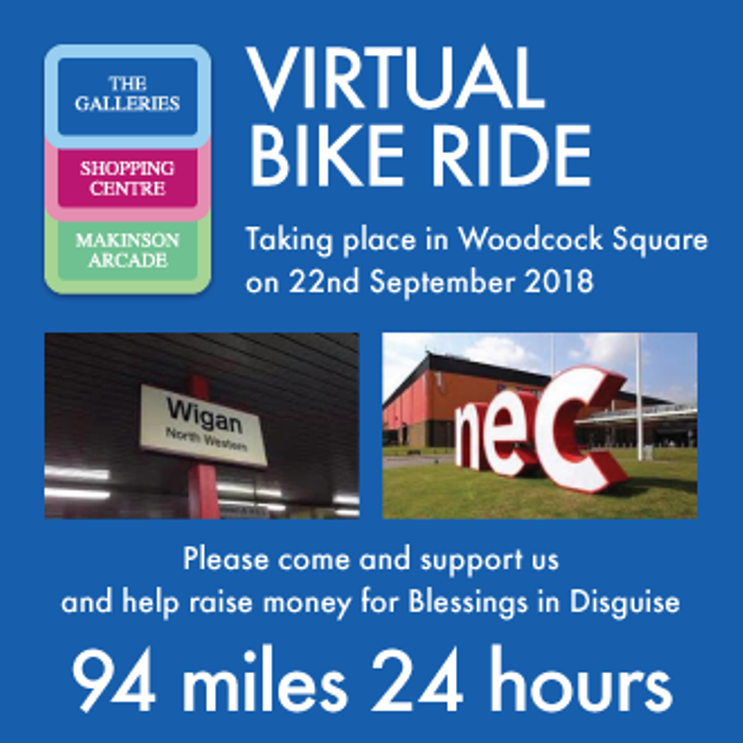 Blessing in Disguise Virtuaal Bike Ride Wigan
