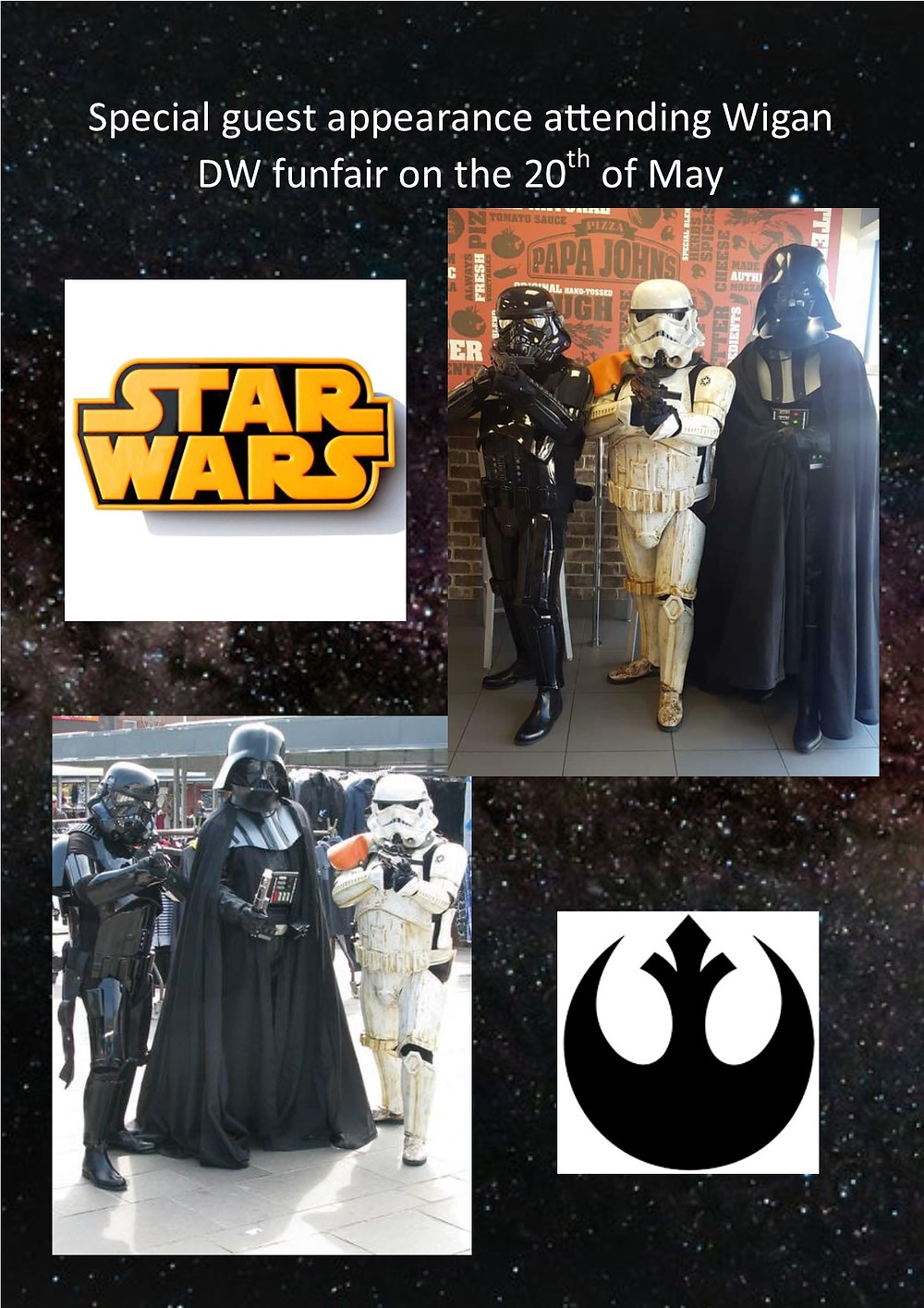 BID VIP Fun Fair Star Wars Darth Vader and The Storm Troopers