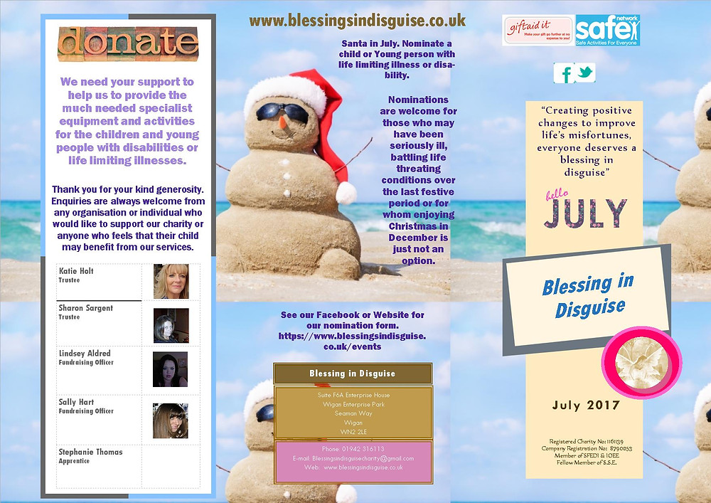 Blessing in Disguise July 2017 Newsletter (Page 1 of 2)