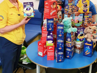 Blessing in Disguise Easter Bunnies VIP visit to Wigan Hospital Children's Ward (Rainbow Ward)