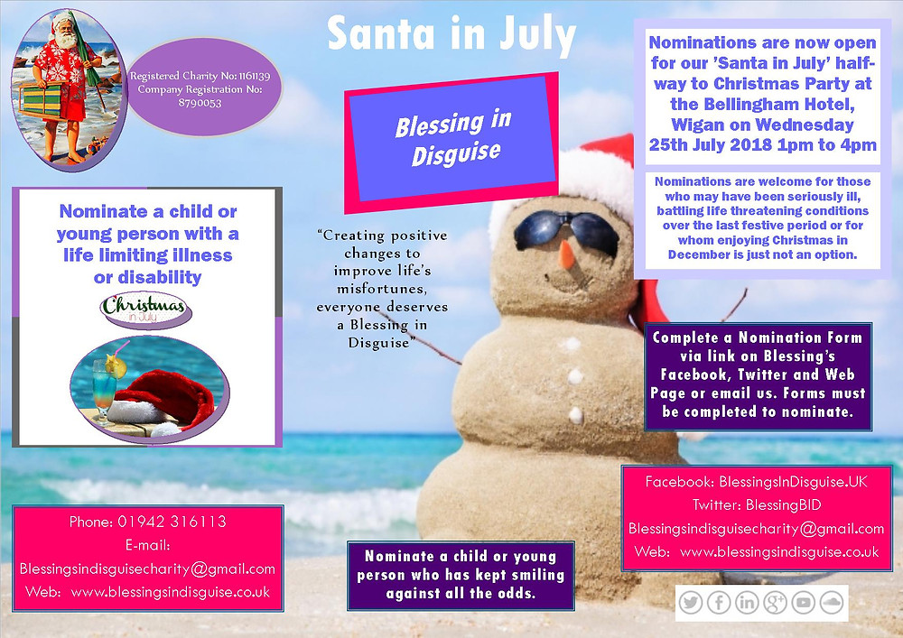 Santa in July 2018 25 July - 1pm to 4pm