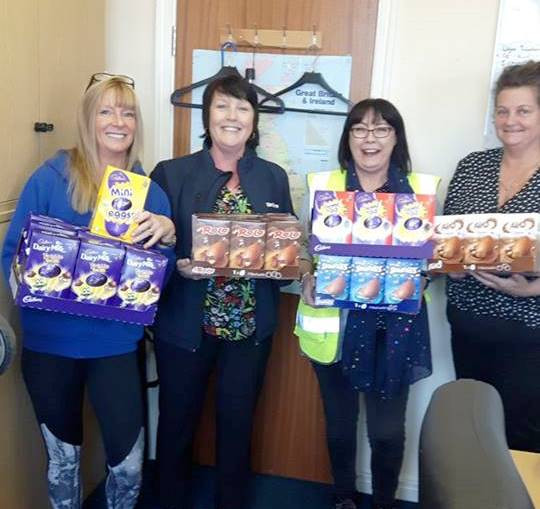 Seddons and Blessing in Disguise Easter Egg Donation