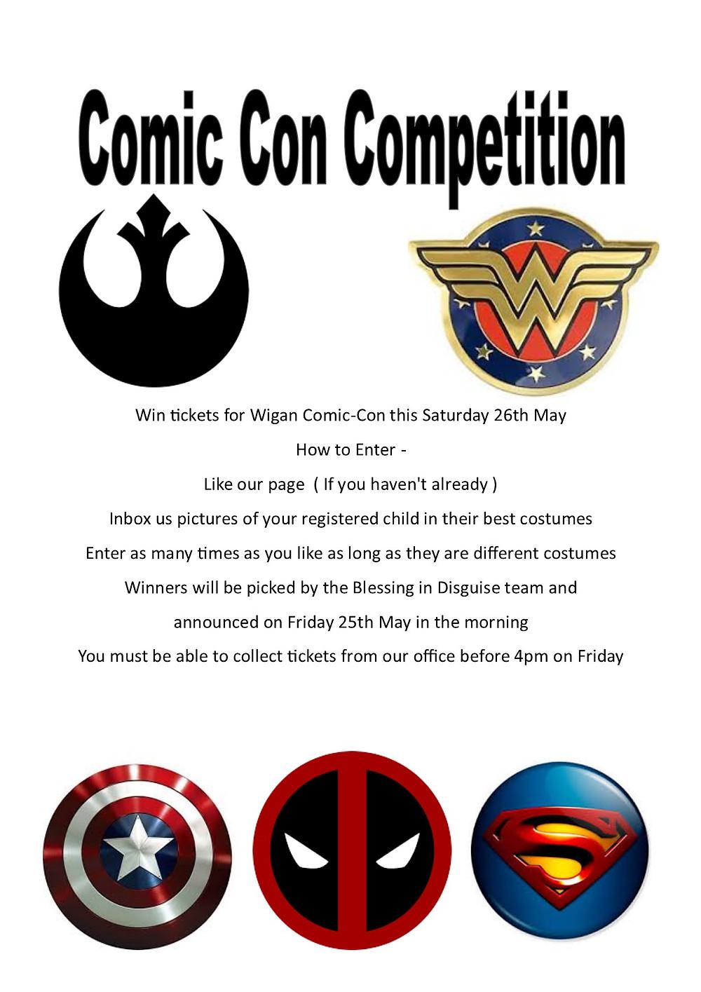 Comic Con Competition Wigan Comic-Con