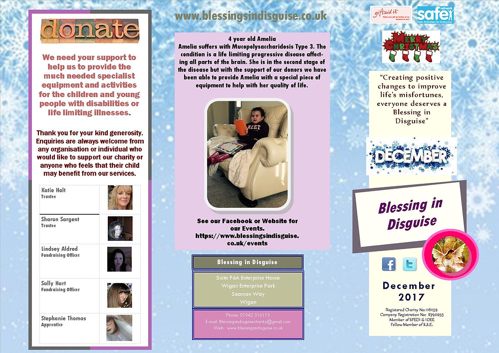Blessing in Disguise December Newsletter