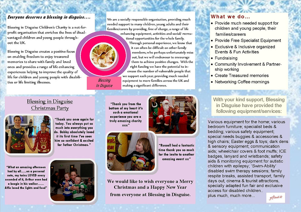 Blessing in Disguise Newsletter 2017-12 December 2017