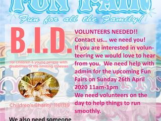 2020-04 26 - 26th April 2020 VIP Fun Fair, DW Wigan - VOLUNTEERS REQUIRED