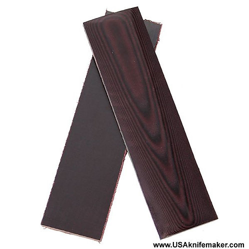 Maroon Linen Micarta for Knives that Require 1 Scale