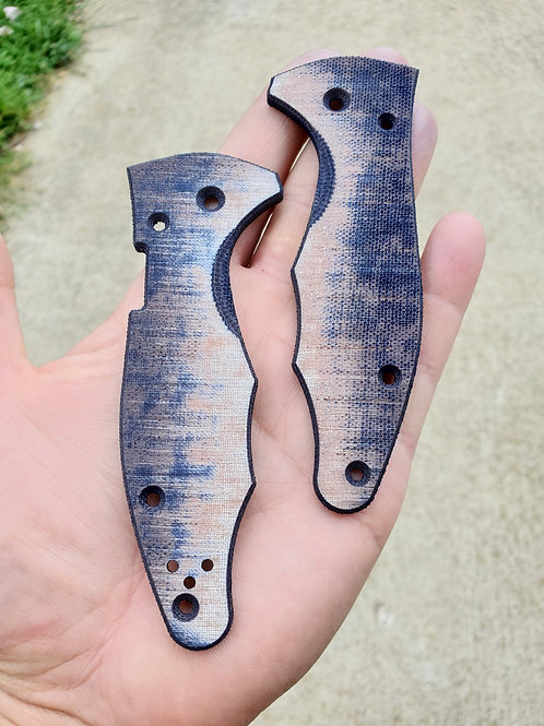 Natural/ Black Micarta for Knives that Require 2 Scales