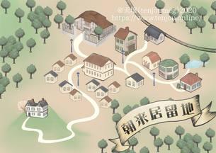 居留地地図(朝来居留地)