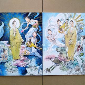 制作事例:佛画描きました