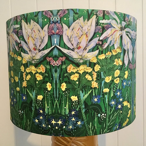 Spring in the Garden drum lampshade. 3 sizes available