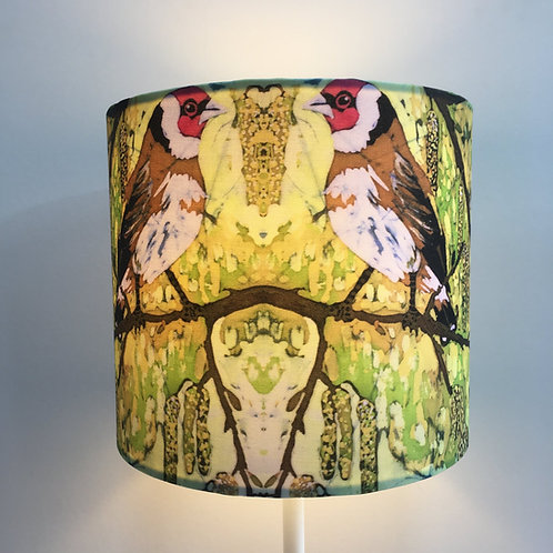 Goldfinch & Catkins Lampshade