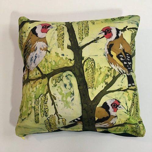 Goldfinch & Catkins Cushion