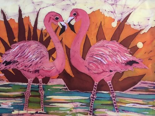 Tropical Flamingos Ltd Edition Archive Print