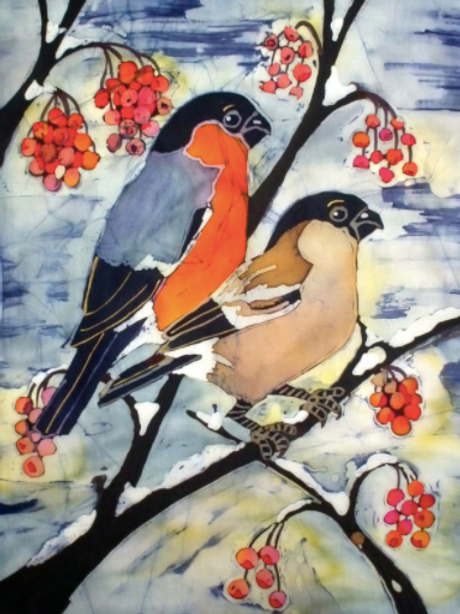 Winter Finches Ltd Edition Giclee Print