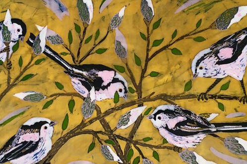 Long Tailed Tits Ltd Edition Archive Print