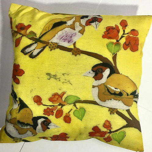 Goldfinches Cushion