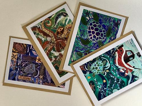Ocean Creatures Card Collection