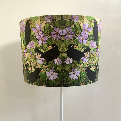 Blackbirds & Dog Roses Lampshade