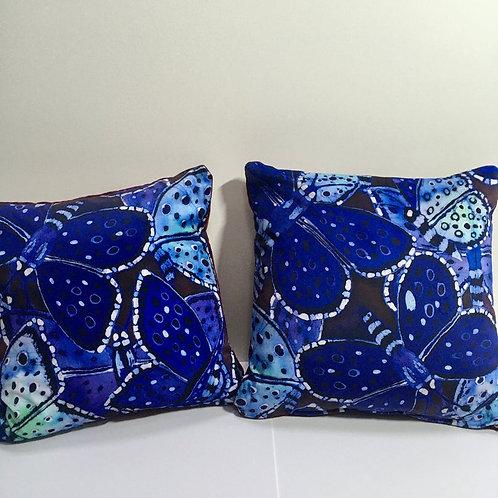 Blue Butterflies Cushion